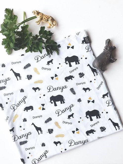 Safari Theme Name Blanket