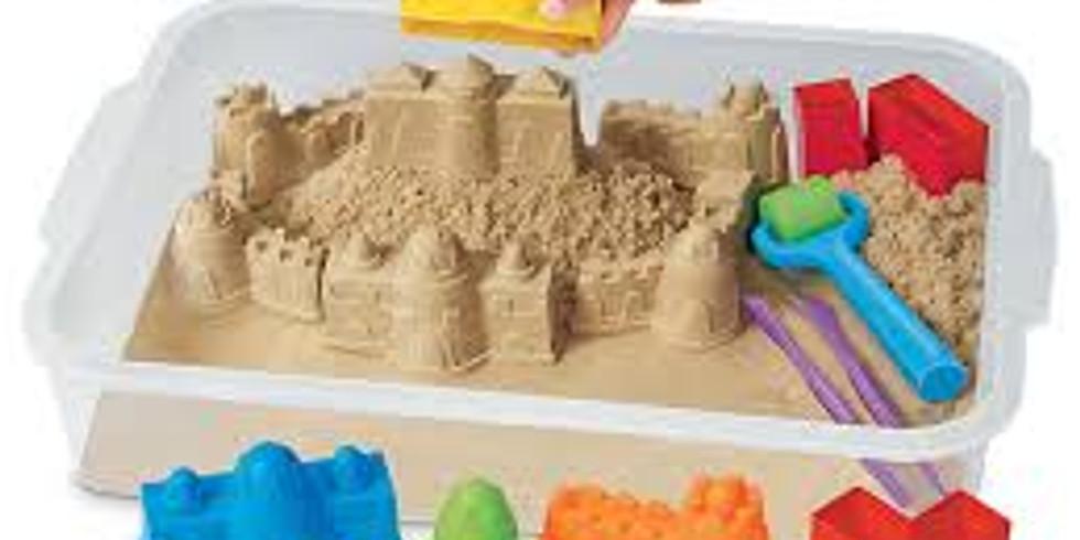 Kinetic Sand Making + Sensory Play
