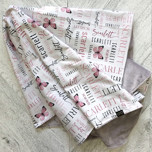 Classic Mosaic Name Blanket