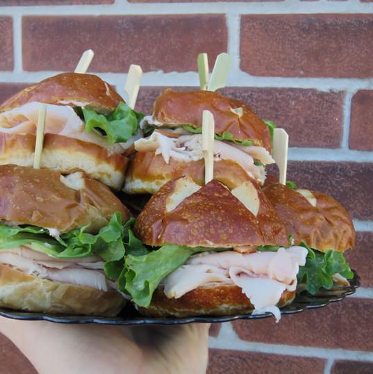 Turkey Pretzel Sandwich