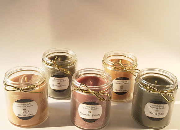 Scented Beeswax Jar Candles 5 ounce
