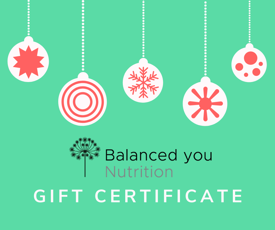 Christmas nutritional therapy gift certificate