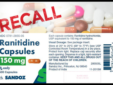 Ranitidine recall - have you been affected?