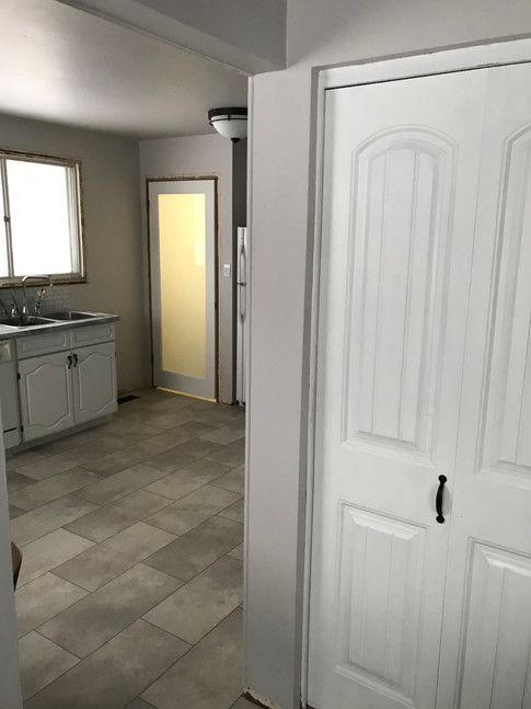 New closet doors to match the cabinets.