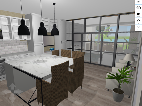 I added a beautiful glass doors to separate the spaces with out blocking any light. The doors can slide to completely open the space or curtains can be closed to give guests privacy.