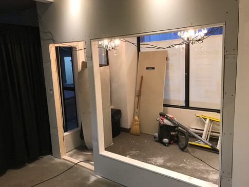 doors and windows almost ready to go in.