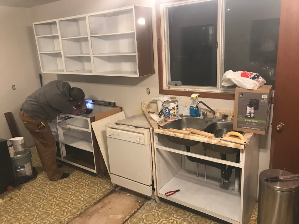 Cabinets getting relocated.