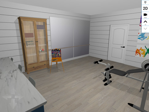 Multi Purpose room with Dance studio/workout areas