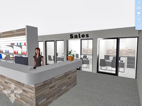 Sales Reception Counter.