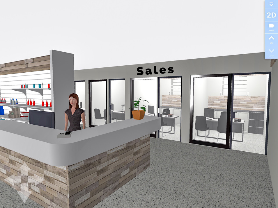 Sales Reception Counter.