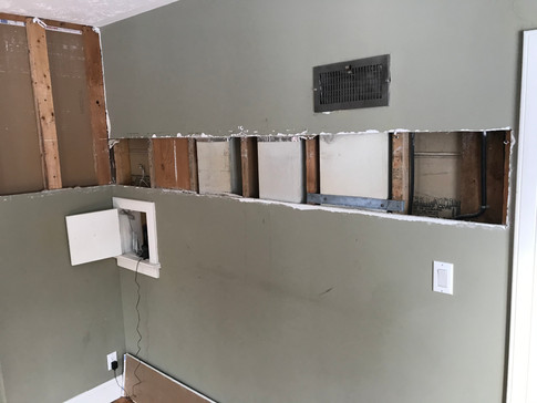 locating ductwork.