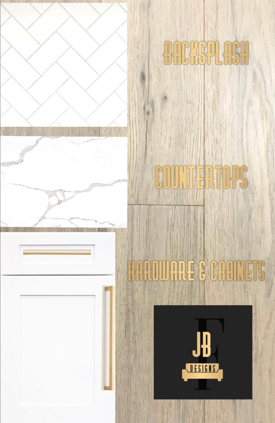 Kitchen design board.