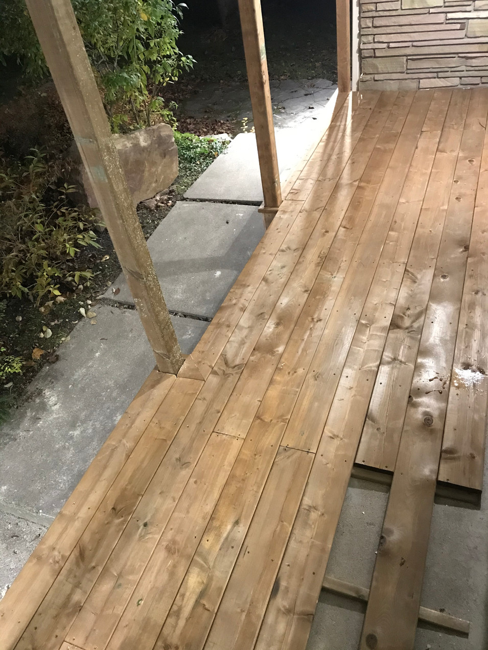 Installing the decking!