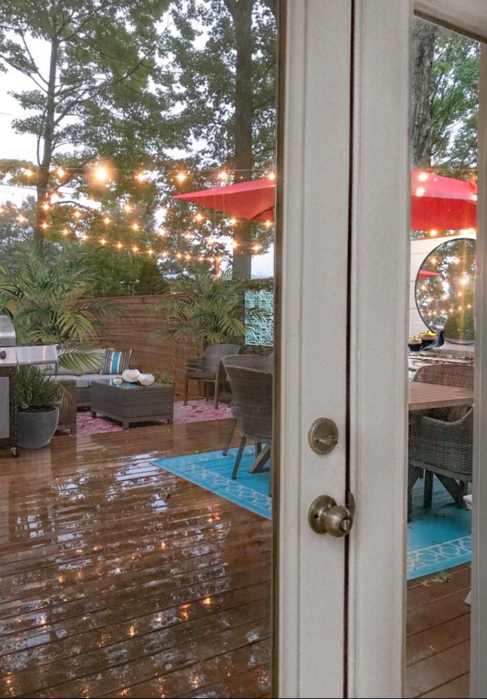 View of the backyard from the diningroom.