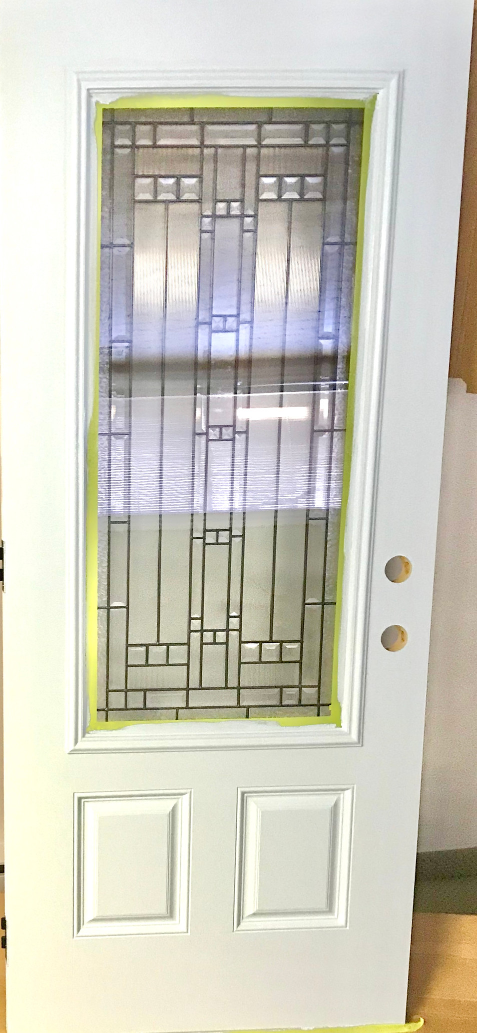 Brand new custom front door.