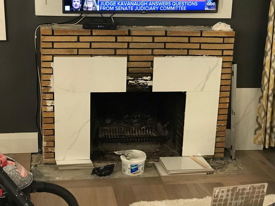 Tile installation.