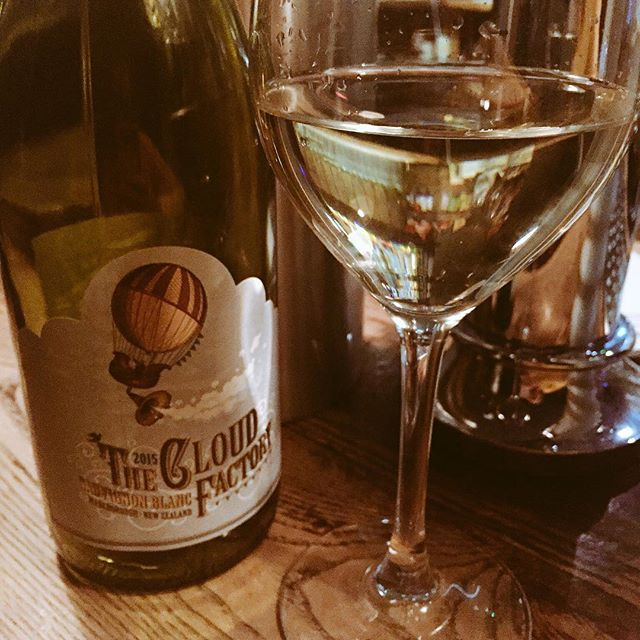 Polishing off a bottle of #cloudfactory #wine after a busy Sunday lunch