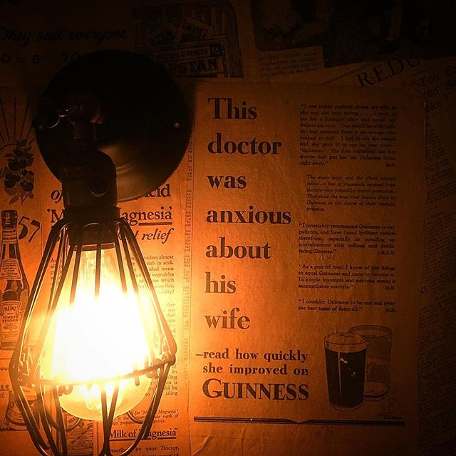 A section of our newspaper wall all taken from real 1930s newspapers #guinness #leamington #pub #dec