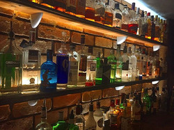 Spirit shelf #foxandvivian #leamingtonspa #whisky #gin #vodka #rum #brick #industrial #steakhouse