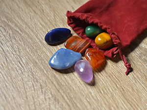 Close up of Chakra stones ,Chakra cryst