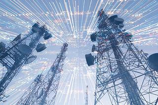 double exposure telecommunication mast T