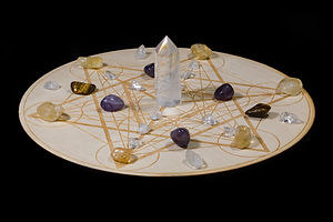 Crystal Grid with Quartz and Other Cryst