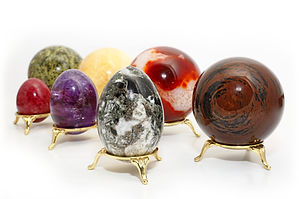 Natural minerals, amber on a white backg