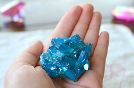Blue Flame Aura Quartz Cluster! Beautifu