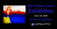 Light Space Time 2nd Annual Primary Colors exhibit postcard