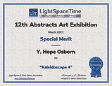 Abstracts 2021--Special Merit Certficate Light Space Time