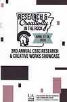 Legitimacy of Lyric Research and Creativity Expo 2018 program cover opens program document showing Y. Hope Osborn presentation participant