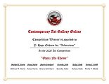 Contemporary Art Gallery Online 7th Annual open/no theme competition winner certificate for image Arboretum