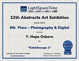 Abstracts 2021--9th Place Certficate Light Space Time.jpg
