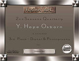 Fusion 2nd Seasons Quarterly 3rd place certificate for image Christmas Glow