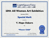 Light Space Time 10th All Women Special Merit certificate for image Flower Child