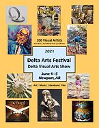 Newport Delta Visual Arts Show Flyer
