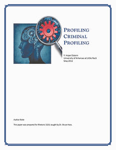 Final White paper cover image for Profiling Criminal Profiling paper