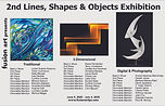 Fusion 2nd Lines, Shapes & Objects Art Exhibition 5th Place Color Choreography