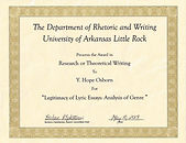 Legitimacy of Lyric Essays Research or Theoretical Writing Award image