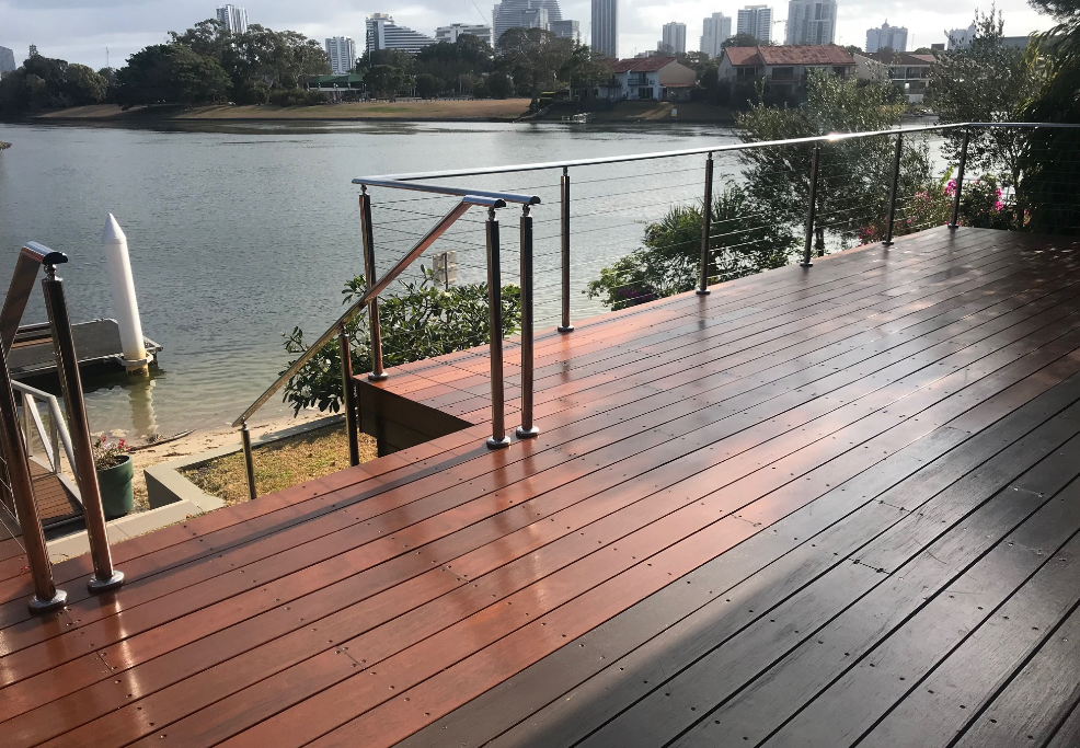 Completed deck repair