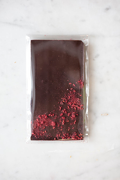1.5 oz Raspberry Dark Chocolate Bar