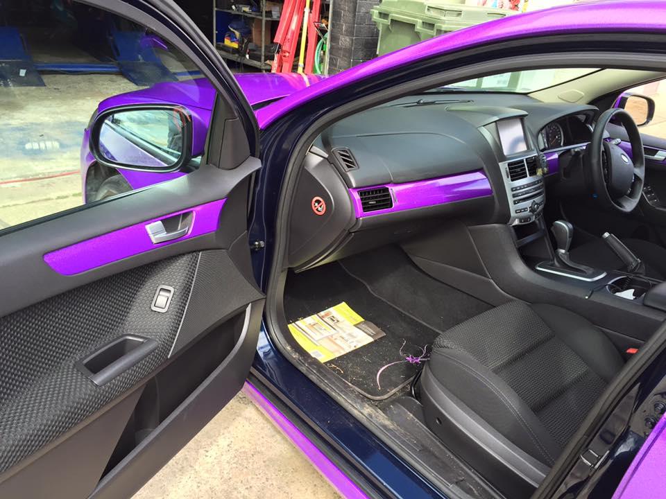 Purple glitter interior