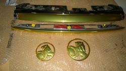 Gold chrome trim