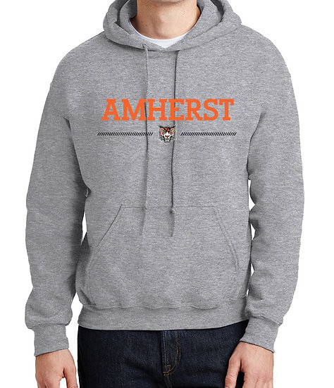 "Hooded Sweatshirt - ""Amherst"" logo"