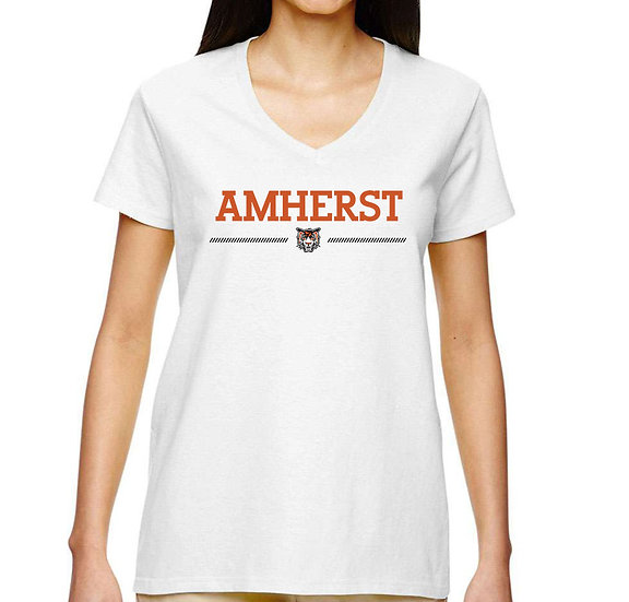 Short Sleeve Women's Shirt - Amherst logo
