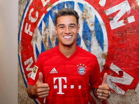 Philippe Coutinho é confirmado como reforço do Bayern de Munique