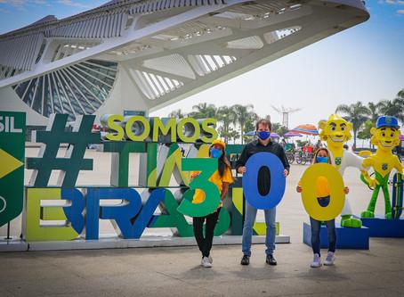 Exposição celebra marca de 300 dias para os Jogos Olímpicos de Tóquio em 2021