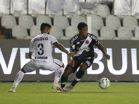 Confira uma análise técnica da atuação do Vasco no empate por 2x2 com o Santos pelo Brasileirão