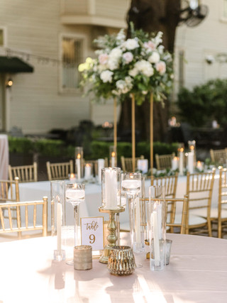 """60"""" candle setting mixed gold and clear"""