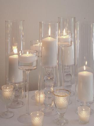 Clear Candle Assortment-pillar